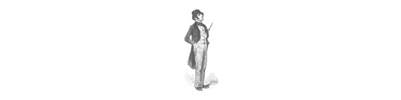 victorian illustration of a French flaneur