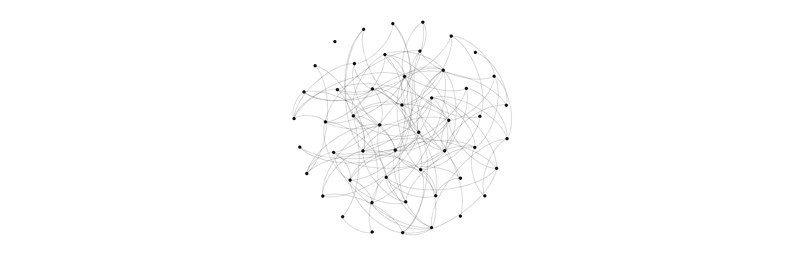 image of an undirectional network