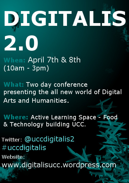 poster for the Digitalis 2.0 Event in UCC