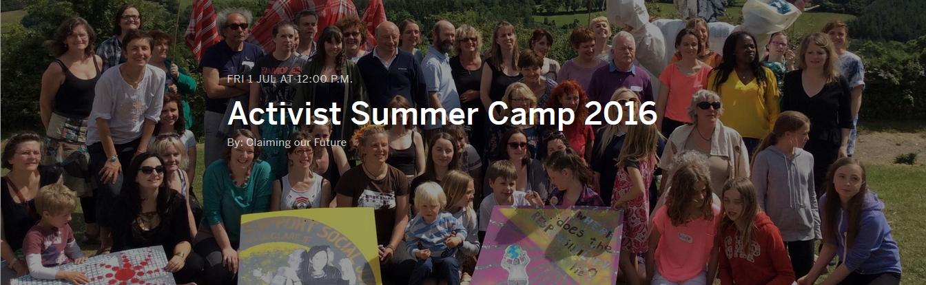 image taken at Activism Camp 2015