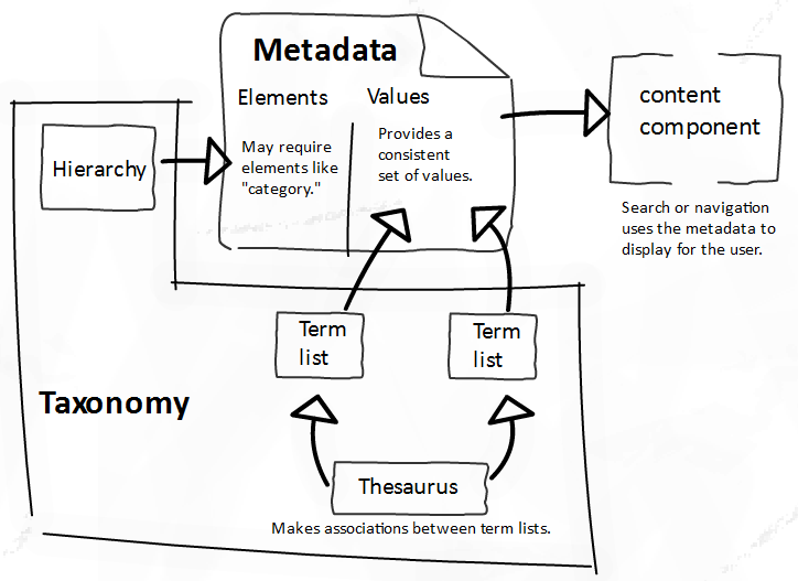 diagram of metada taxonomy