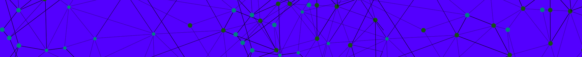 image of networked nodes with a background of blue