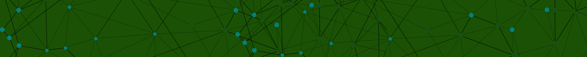 image of networked nodes with green background