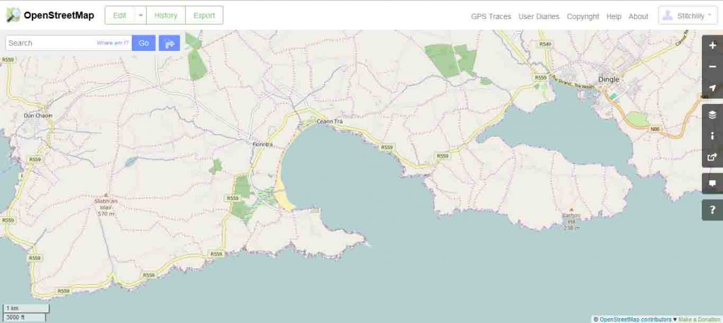 open street maps of Dingle Bay
