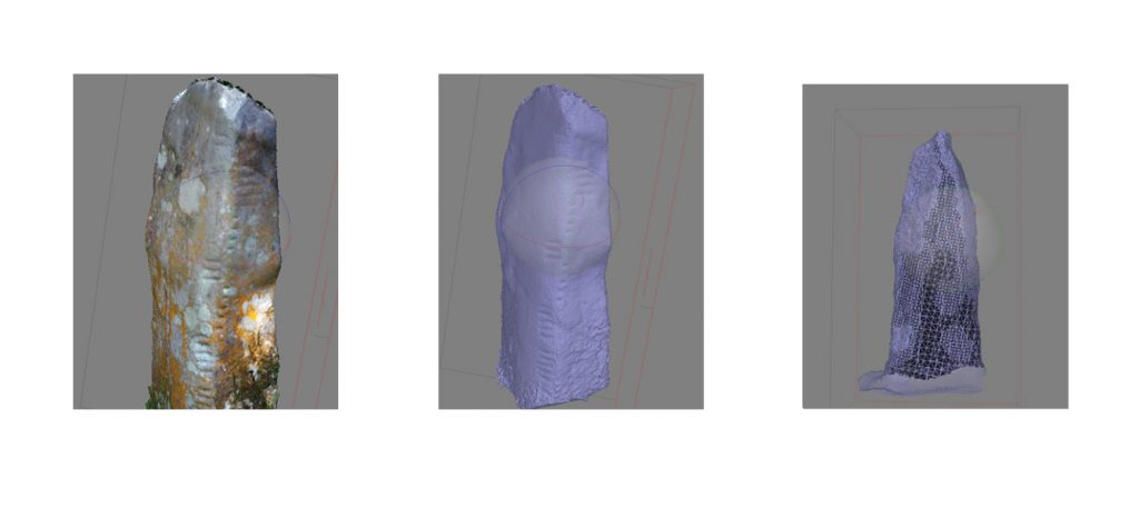 three different mesh models