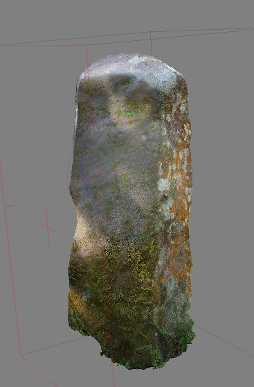 ogham stone with texture